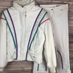 Vintage Obermeyer Ski Suit 90's Snow pants jacket